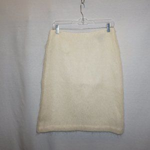 VTG lacy ivory wool mohair skirt FRENCH CONNECTION